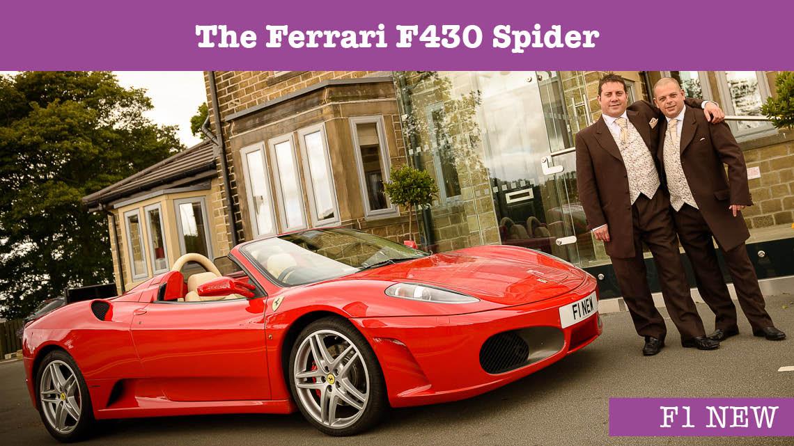 Ferrari F430 Wedding car - wedding cars huddersfield - Grooms car