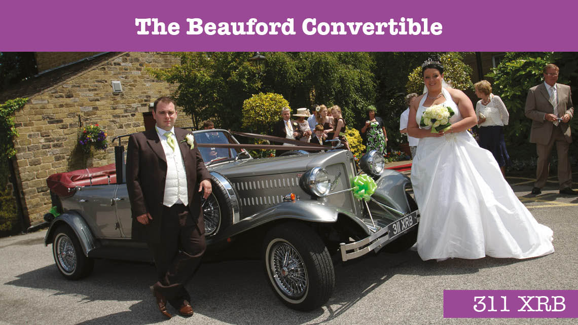 Beauford Convertible Wedding car - wedding cars huddersfield