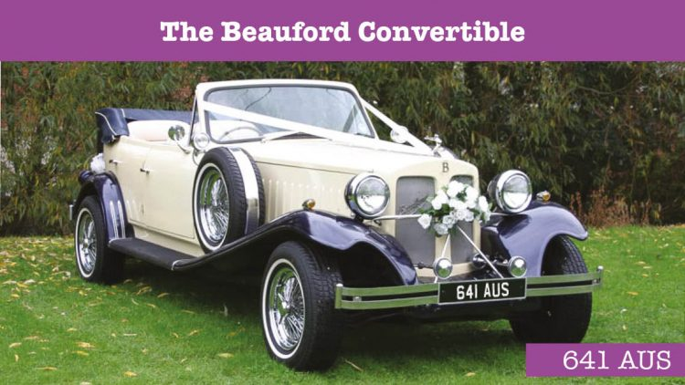 Beauford Convertible Wedding car - wedding cars huddersfield